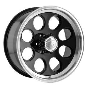 "Ion 171 15x10 6x5.5"" -38mm Black Wheel Rim 15"" Inch"