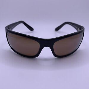 Maui Jim Sunglasses Peahi MJ202-02 Custom Bronze HCL Lenses Black Frame