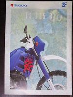 BROCHURE CATALOGUE 1994 MOTO SUZUKI TE 125 R    PROSPECTUS