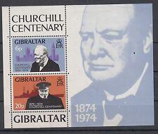 Gibilterra/Gibraltar 1974 BF 1 Centenario nascita W. Churchill MNH