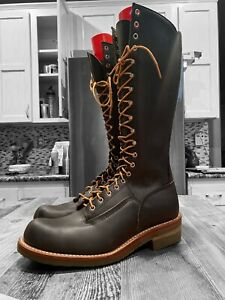 Red Wing Lace-Up Lineman Boots size 10.5 C  Men's Boots SIGNATURE REQ'D