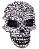 Skull brooch pin women biker gothic jewelry gifts for women antique silver BD07