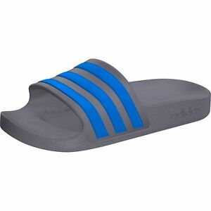 adidas Adilette Aqua K Badeschuhe Badelatsche Grau Blau EF1751