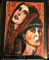 Watercolor painting of EDM duo Icona Pop by artist Mark Robinson original
