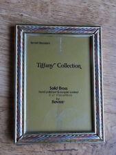 """BOWON Tiffany lo stile vintage ottone massiccio immagine/foto frame 5 x 7"""""""