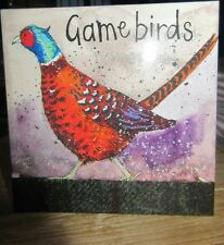 ALEX CLARK GAME BIRDS. 8 BOXED NOTELETS, 4 DESIGNS 2 OF EACH DESIGN