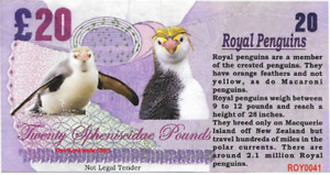 2017 Penguin Series 🐧 ROYAL PENGUIN 🐧 20 Spheniscidae Pounds 🐧 Fantasy Note
