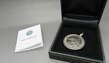 TURKEY 1 MILLION LIRA coin PROOF PENDANT AUTHENTICITY CARD GIFT BOX