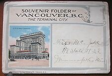 Vintage 1915 Vancouver B.C. Canada Post Card Folder - Contains 22 Photos