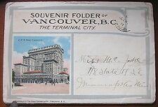 Vintage 1915 Vancouver B.C. Canada Post Card Folder - Contains 22 Photos