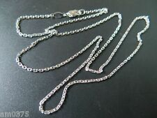 "New Authentic Platinum 950 Necklace Elegant Chain Women's Cable Chain / 23.6""L"