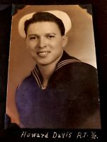 Vintage Navy Sailor Photo Howard Davis