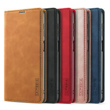 Leather Case For Samsung Galaxy A22 5G Magnetic Flip Card Pocket Solid Color
