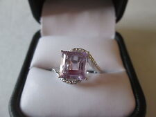 Sterling Silver Rose De France Amethyst (Sqr) Ring (Size 7) TGW 3.35 cts.
