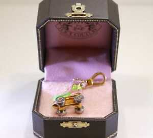 2007 Juicy Couture Pink/Green ROLLER SKATE Charm with Juicy Couture Box