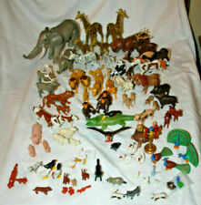 PLAYMOBIL ANIMAL LOT ZOO WILD ELEPHANT HIPPO LION BIRDS WARTHOG FARM PIGS HORSE