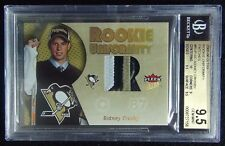 2005-06 SIDNEY CROSBY FLEER ULTRA ROOKIE UNIFORMITY PATCH /35 BGS 9 5 POP 3