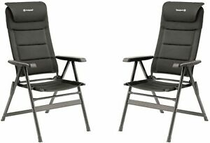 Outwell Teton Camping Chair (Black) - 2 Chairs