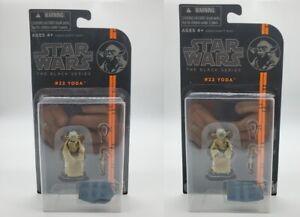 Star Wars Yoda Black Series 22 2014 3.75 Inch Action Figures x 2 - High Bid Gets