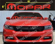 MOPAR RED WINDOW DECAL..CHARGER, CHALLENGER, RAM, OR ANY DODGE MODEL