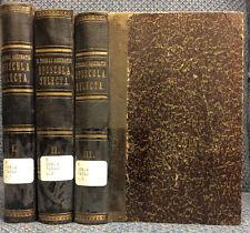 OPUSCULA SELECTA [3 vol.] By St. Thomas Aquinas - 1881, Latin text, Catholic