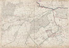 LEEDS Old Yorkshire map 218-5-1893 New Wortley