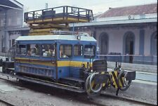ORIGINAL KODACHROME SLIDE RENFE LINE CAR IN STATION MALAGA SPAIN 10-20-97