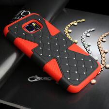 For Samsung Galaxy S6 Dynamic Tuff Hybrid Spot Diamond Hard Phone Case Cover