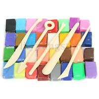5 Tools+24/32 Colors Polymer Clay Fimo Block Modelling Moulding Sculpey DIY