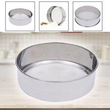 Kitchen Stainless Steel Fine Mesh Oil Strainer Flour Colander Sifter AU LrJNE
