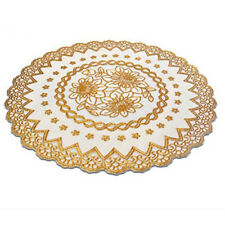 Gold Stamping PVC Waterproof Placemats Coaster European style heat resistan T5L2