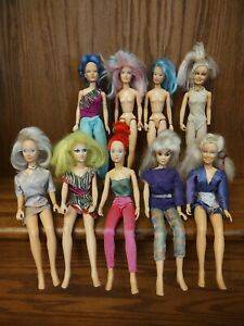 Jem And The Holograms Lot Of 9 Dolls Vintage 1985 Hasbro