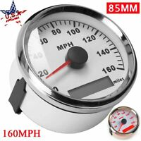 85mm GPS Speedometer Gauge 0-160MPH Odometer For Car Truck Motorcycle Waterproof