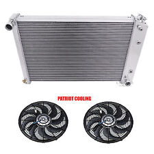 "1978-1983 Chevy Malibu CHAMPION Aluminum 4 Row Radiator & 2-12"" Fans"