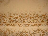 19-1/4Y VALDESE CIRCA 1801 GOLD GOLDEN BROWN FLORAL DAMASK UPHOLSTERY FABRIC