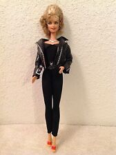 TOP BARBIE DOLL SANDY GREASE SILKSTONE YELLOW FAUX BUTTON CARDIGAN SWEATER