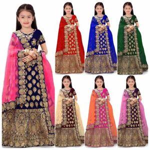 Kids Lehenga Choli Indian Party Wear Kids Dress Age 4-12 Year Lengha Skirt Top