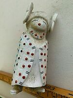 """Large Troy Sice Zuni Antler Fetish Corn Maiden w Baby 4.5"""" COLLECTOR"""