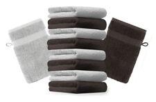 Betz Set di 10 guanti da bagno Premium misure 16 x 21 cm 100% cotone grigio arge