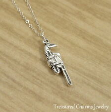925 Sterling Silver Pipe Wrench Charm Necklace - Handy DIY Plumber Jewelry NEW