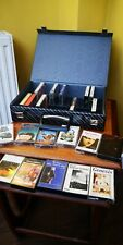 VINTAGE  80'S TAPE CASSETTE CASE AND JOB LOT OF STEREO CASSETTE ALBUMS QUEEN ETC