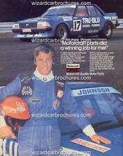 1981 DICK JOHNSON TRU BLU XD FALCON A5 DISPLAY CARD BROCHURE BIANTE 1:18 DIORAMA