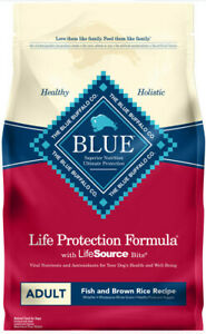 Blue Buffalo Life Protection Adult Fish & Brown Rice Dog Food 6 Lbs