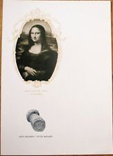 Champagne Leon Chandon 1910 Advertising Menu w/La Jaconde/Mona Lisa - De Vinci