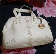 Preloved Authentic Michael Kors Astor White Leather Handbag LOW BID SALE
