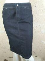 GERARD DAREL BLUE Taille 38 Superbe jupe bleu foncé en jeans jean denim skirt