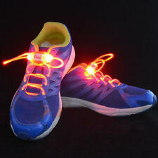 Flashing LED Light Up ShoeLaces ShoeString Clear Glow Flash With Battery
