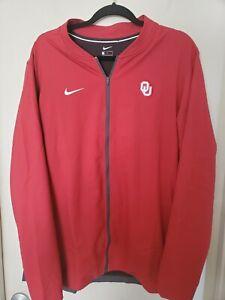 Nike Oklahoma Sooners Red Jacket Size L