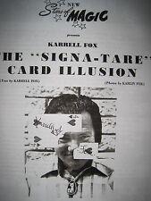 "++= Kallell Fox ""The Signa-Tare Card Illusion"" (copy manuscript only)"