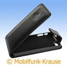 Flip Case Etui Handytasche Tasche Hülle f. Apple iPhone 5 (Schwarz)